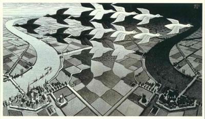 Escher, Dag en Nacht, een illusie ?!